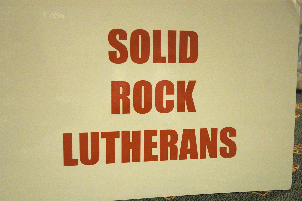"""Solid Rock Lutherans"" met Thursday night to prepare for Friday's debate"