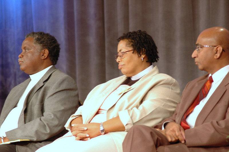Pr. Julius Carroll, Pr. Rochelle Lewis, and Pr. Fred Rajan served as resource people during consideration of the Afican Descent Ministry Strategy.