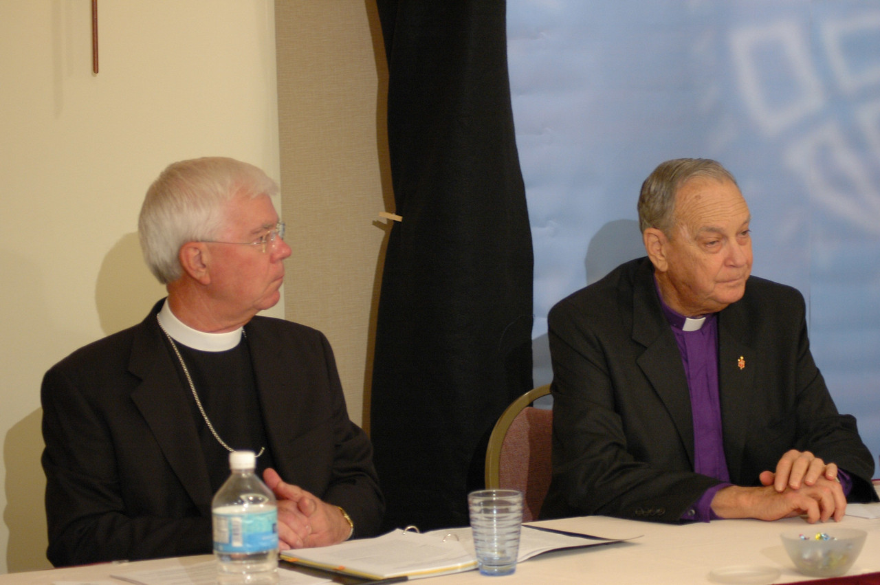 The Rev. Allan Bjornberg, Lutheran-Methodist Dialogue and The Rev. William Oden, United Methodist Church took part in a question and answer news conference.