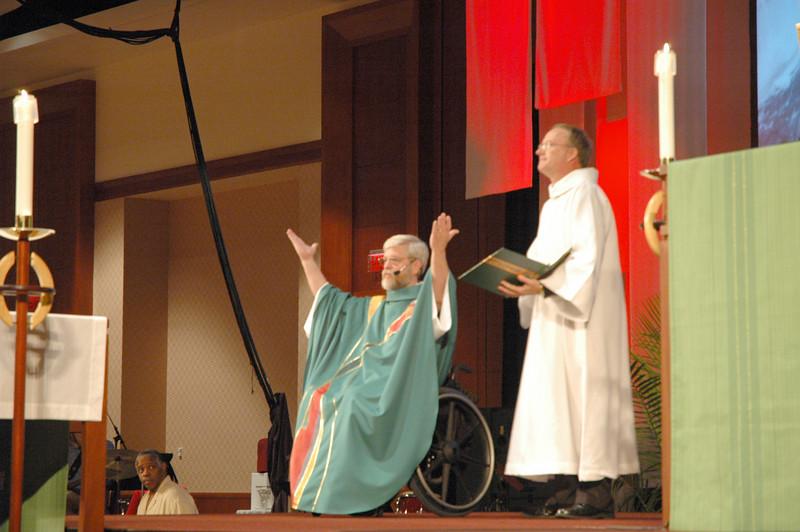 Pr. Philip Wangberg (Albuquerque, New Mexico) presided at Tuesday's worship.