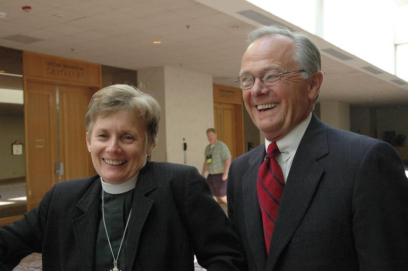 Bp. Margaret Payne and the Rev. Dr. James Childs