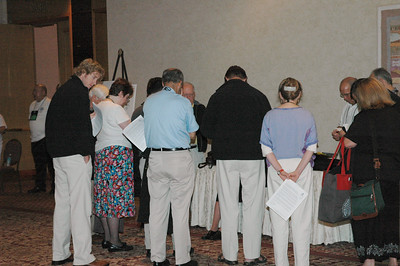 Bishop Payne's Synod Assembly deligation begins Session Two with prayer.
