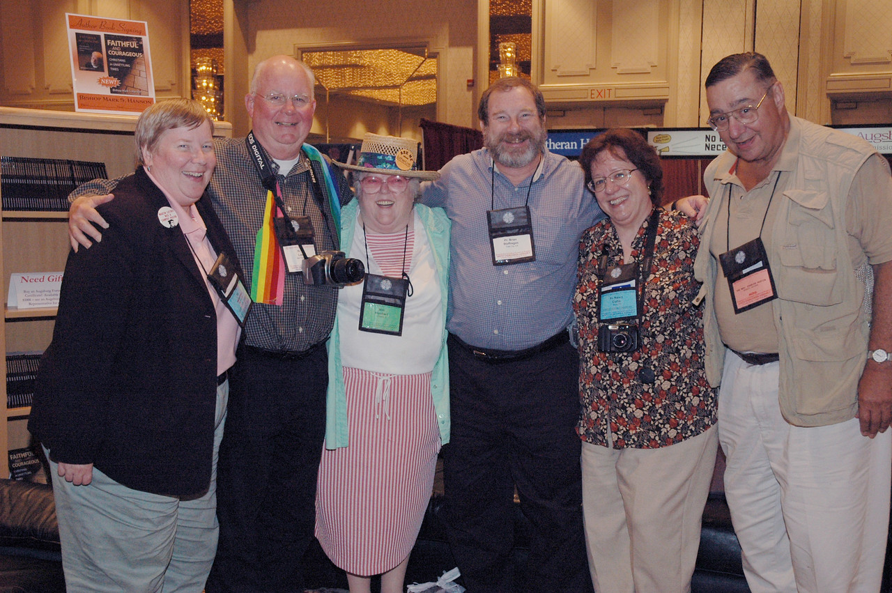 Lutherlink participants Ida Hakkarinen, James Lokken, Miriam Woolbert, Brian Stoffregen, Nancy Curtis and Chuck Austin