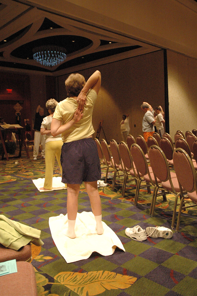 """""""Stretch and Pray"""" activities sponsored by the ELCA Board of Pensions"""