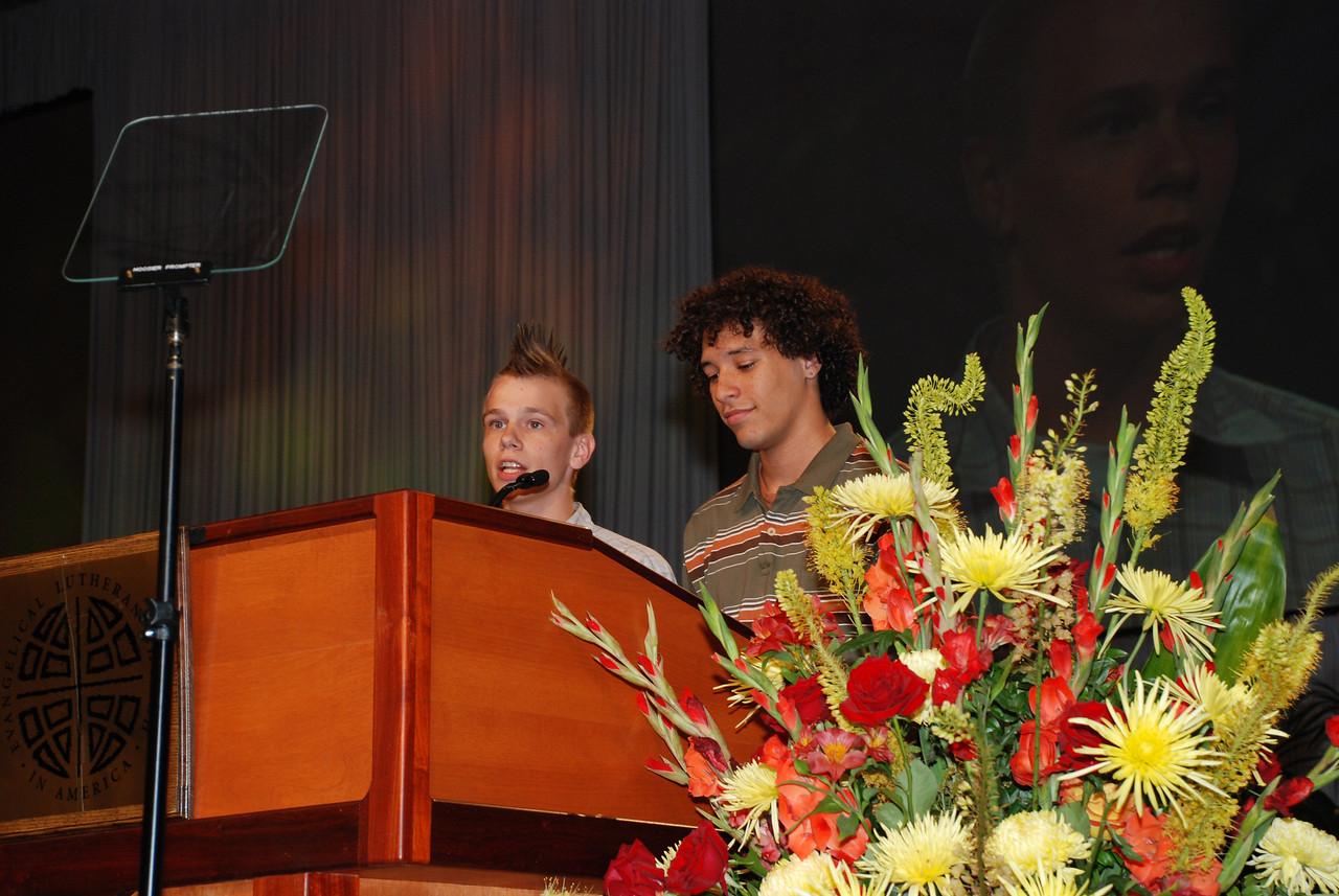 Lutheran Youth Organization:- Nathaniel Viets-VanLear, president of Lutheran Youth Organization