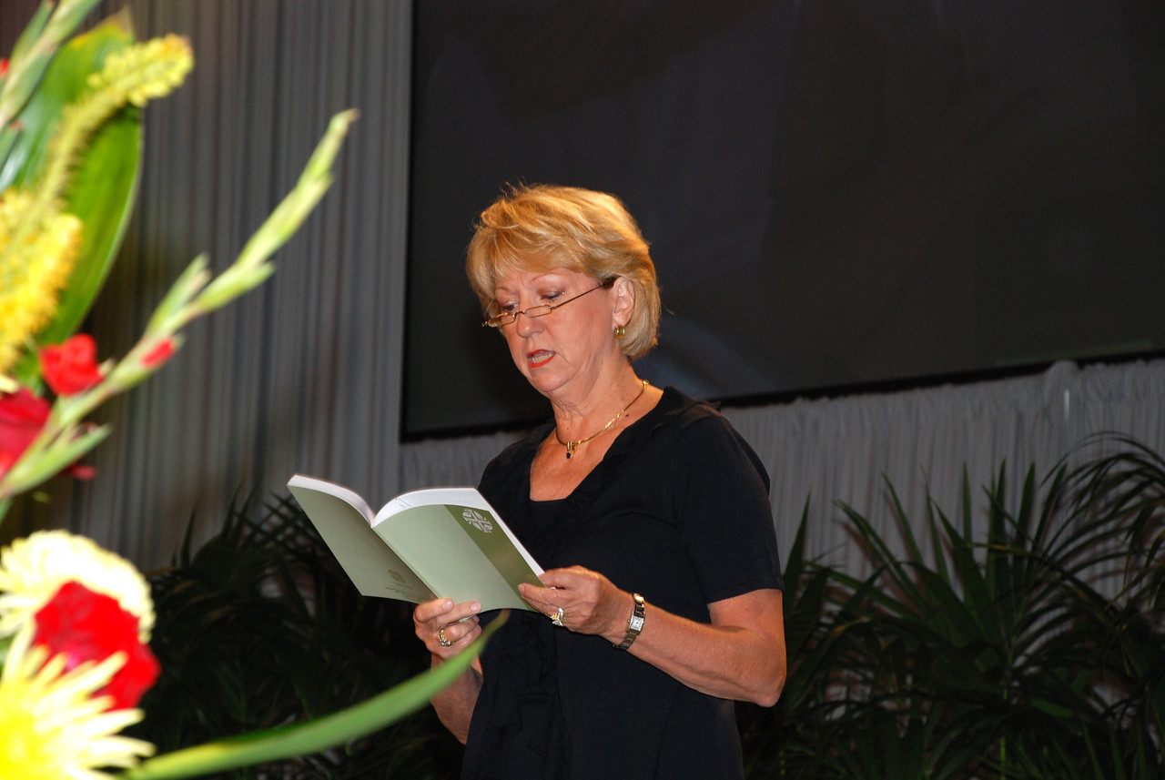 At the opening prayer during Plenary 8 session Judy Biffle, ELCA Church Councilmember, Houston, Texas.