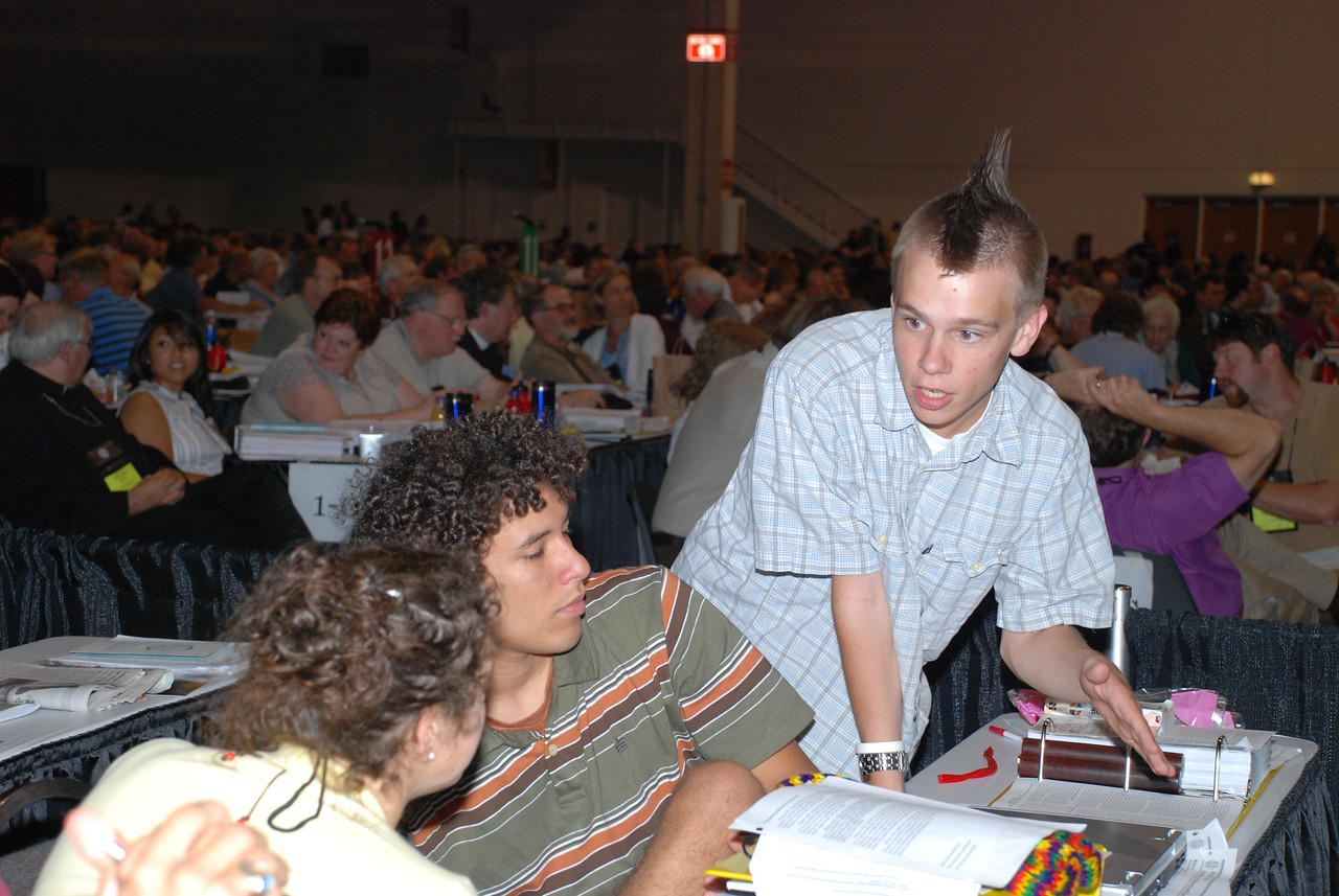 Lutheran Youth Organization during Plenary session 9.