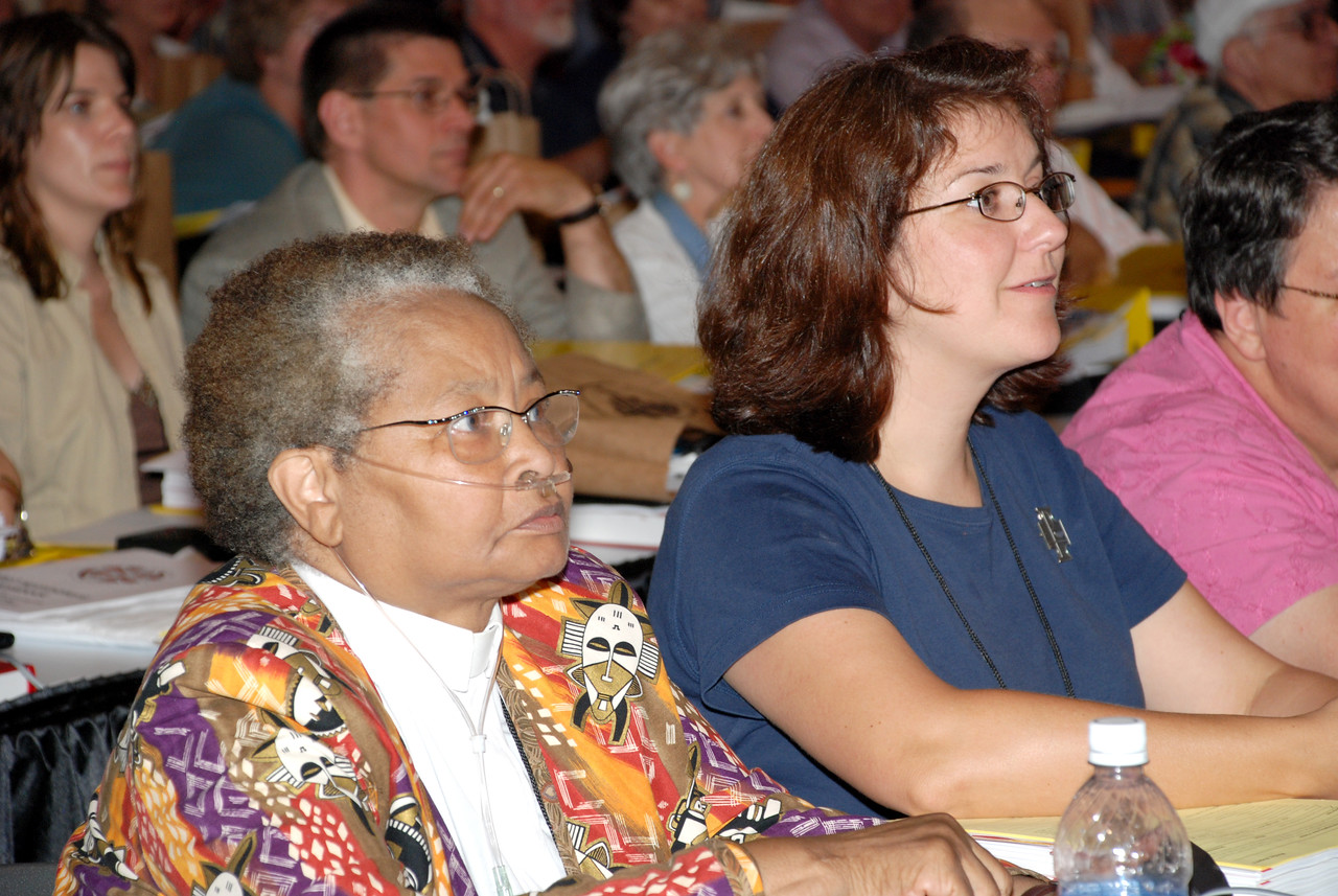 More voting Members listening to Secretary Lowell Almen of the ELCA.