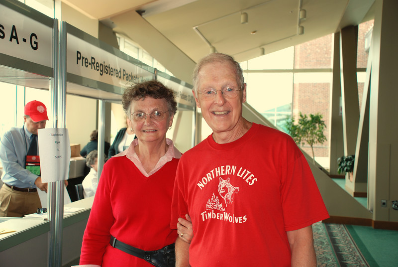 Bruce and Eunice Bohlman getting ready for the Assembly.