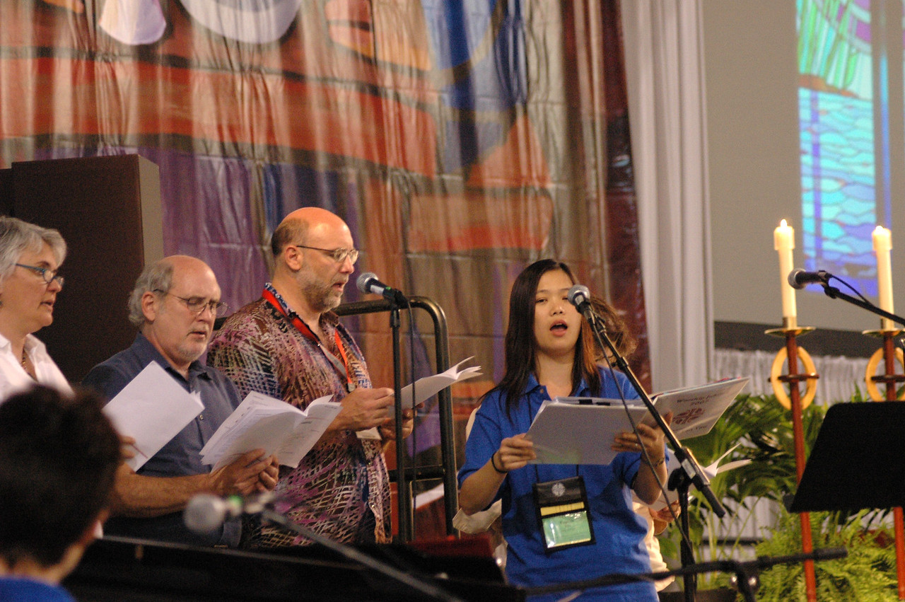 Opening worship was lead by a team of talented singers and instrumentalists