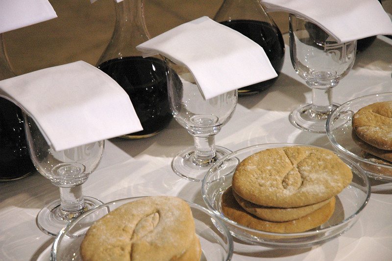 ELCA Churchwide Assembly communion of bread and wine during worship service.