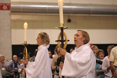 Candlebearers during opening worship