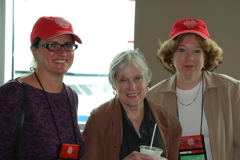 Heidi Hedeker, Ruth VanDemark and Linda Petersen finishing up with registration.