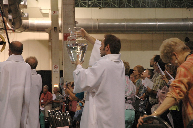 Procession during opening worship