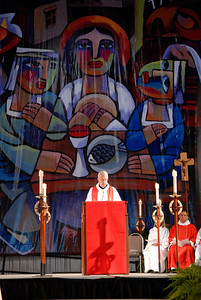 The Rev. Lowell G. Almen, ELCA secretary, reads the lesson at opening worship on Monday, August 6.