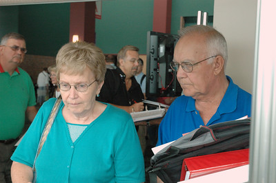 Janice and Douglas Gustafson of Nebraska register for the Assembly.