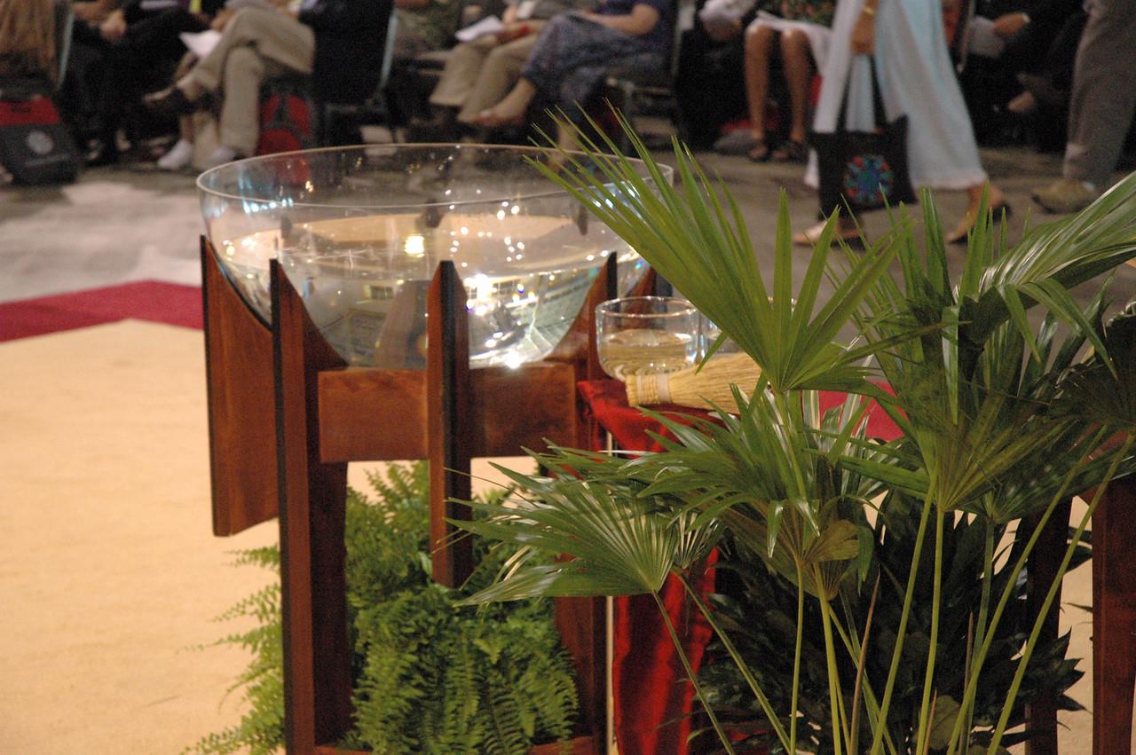Baptismal Font at Worship Event