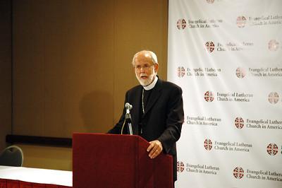 Presiding Bishop Mark S. Hanson at Mondays news conference