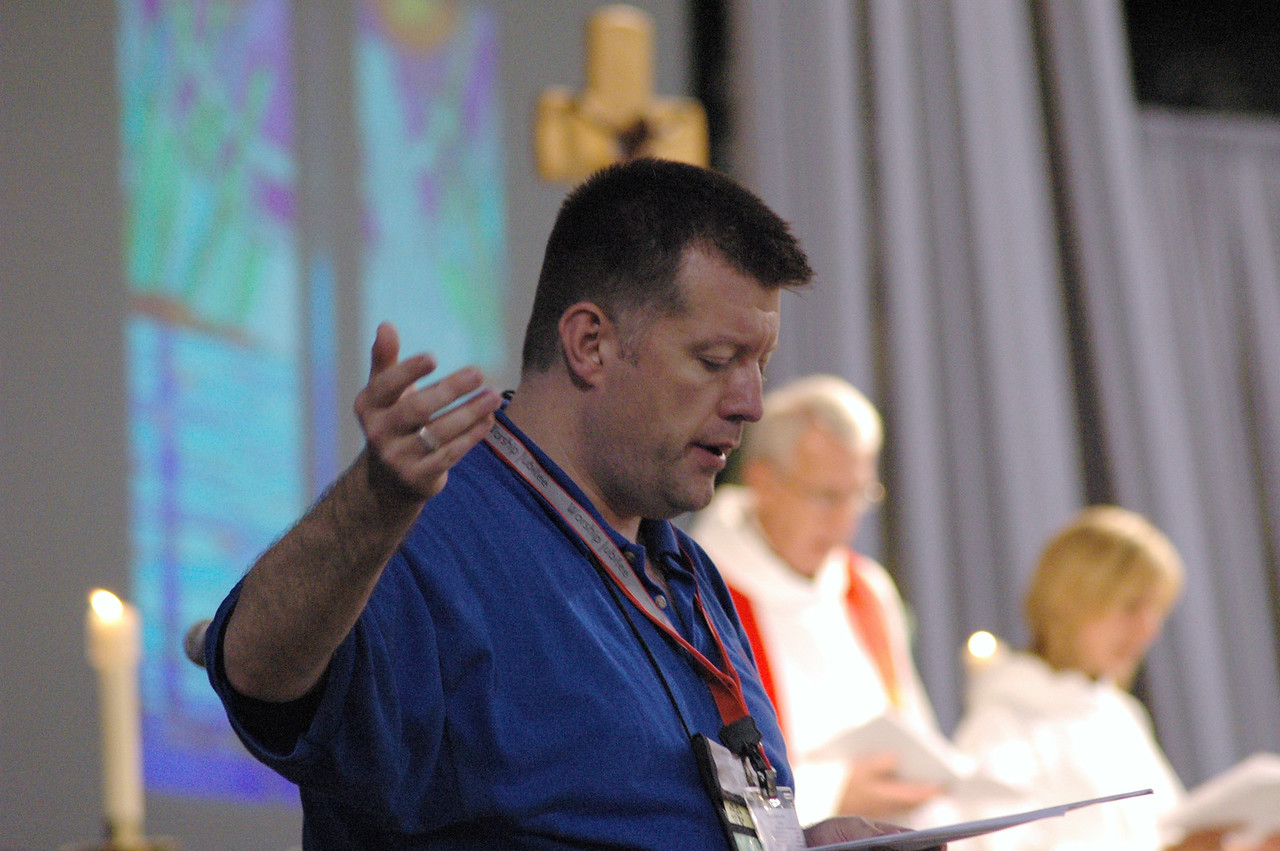 Mark Mummert, Seminary Musician at The Lutheran Theological Seminary at Philadelphia directs the group of musicians