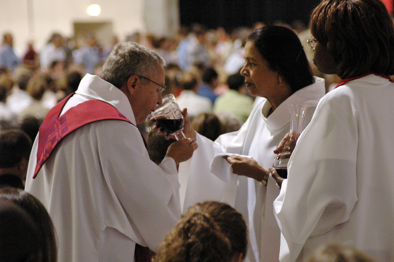 Communion during opening worship