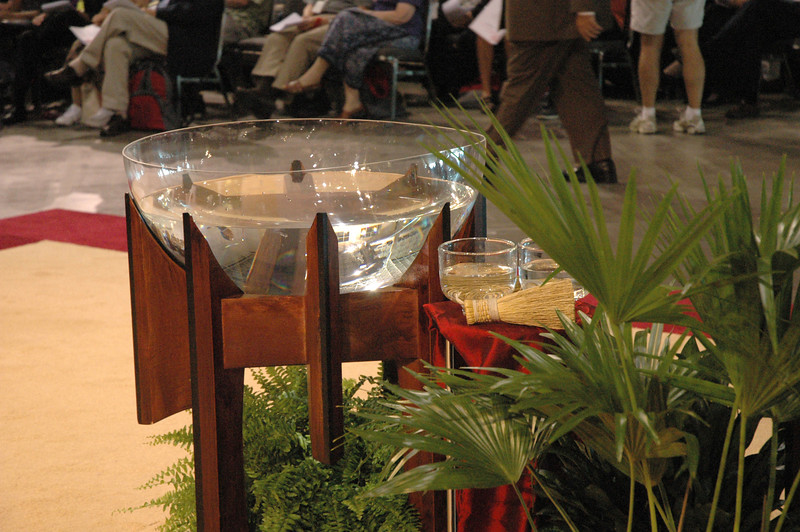 Baptismal Font at Worship Event