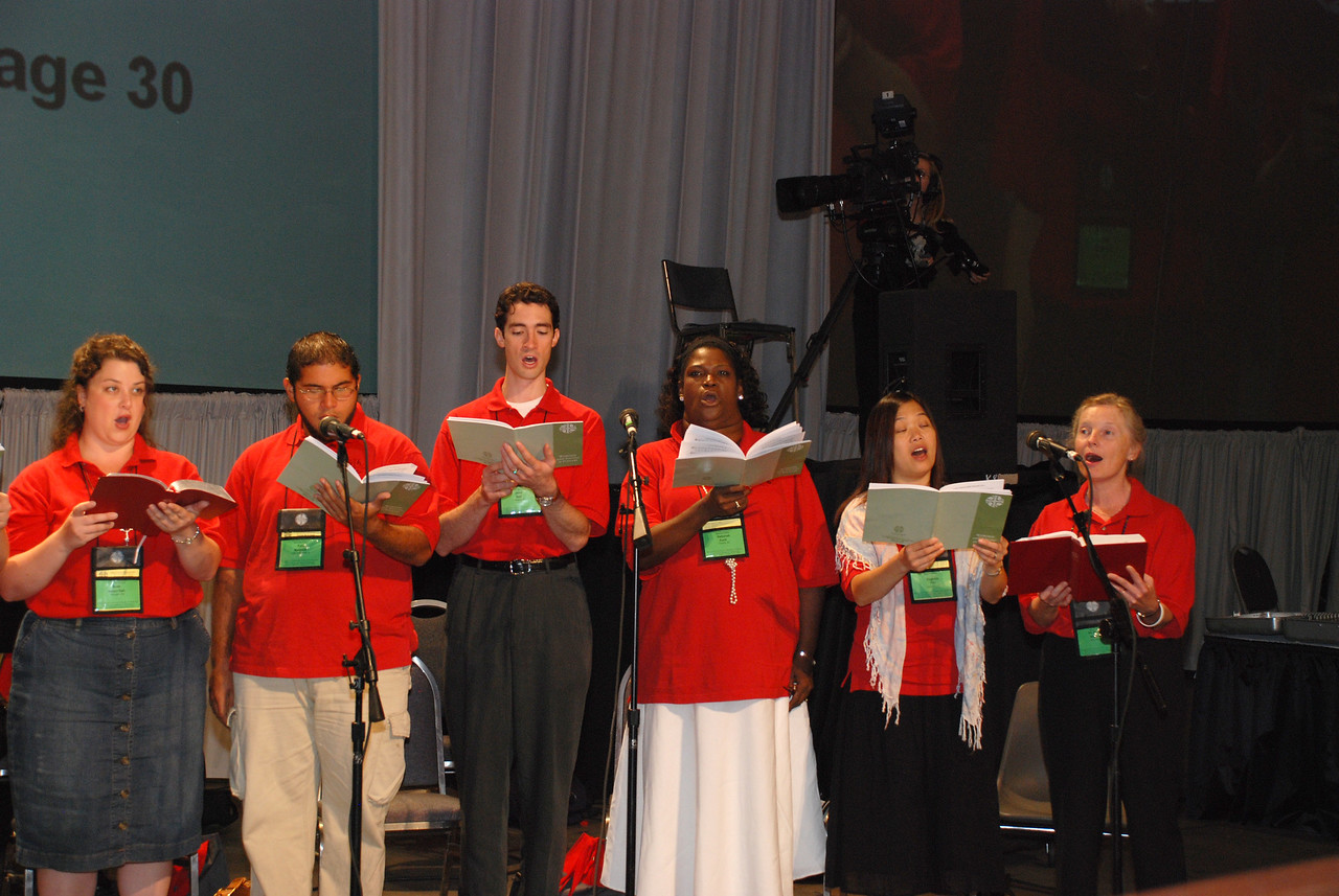 Assembly Musicians at Plenary 10 on Saturday on Navy Pier.