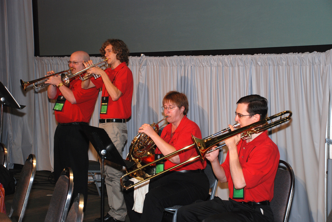Assembly Musicians at Plenary 10 on Saturday on Navy Pier playing the beautiful instruments.