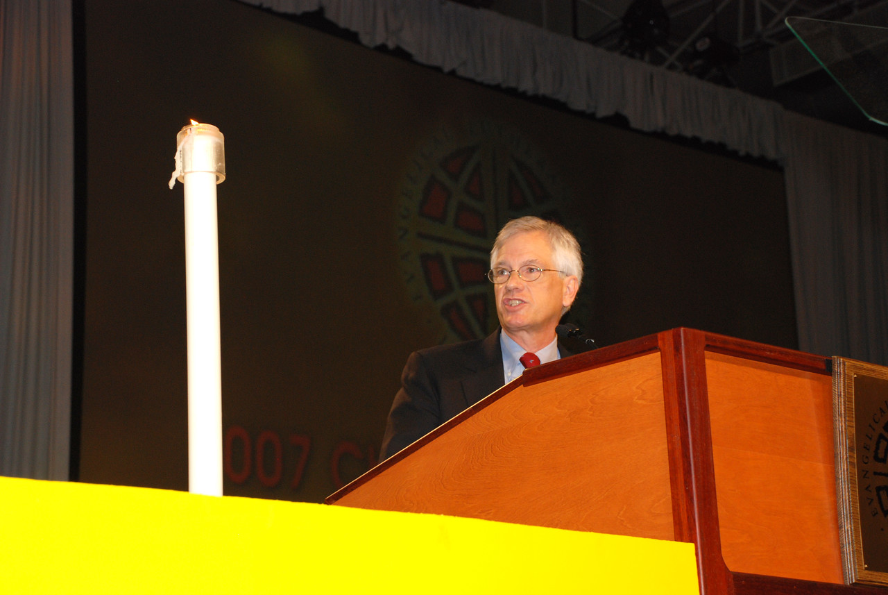 David Swartling was elected ELCA secretary on the fifth ballot by a vote of 611 votes, addresses the Plenary session 10.