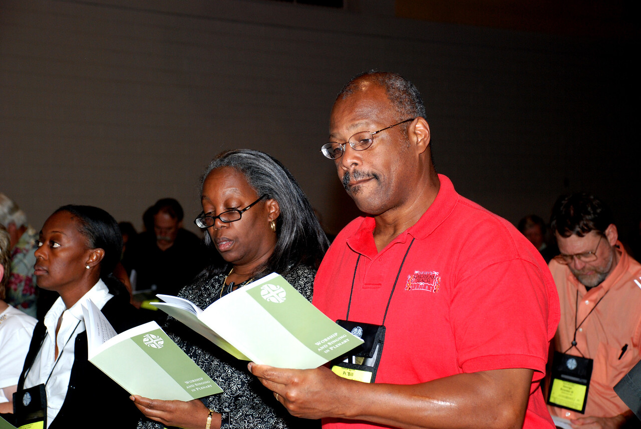 During prayer at Plenary session 7