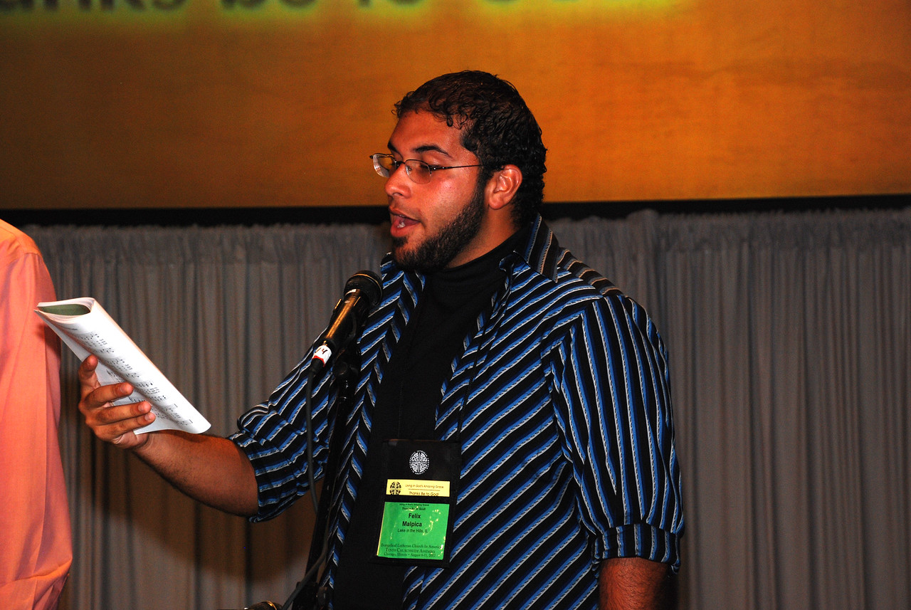 Felix Malpica, Lake in the Hills, Ill. Assembly Member at closing ceremony for Plenary 7 on Thursday.
