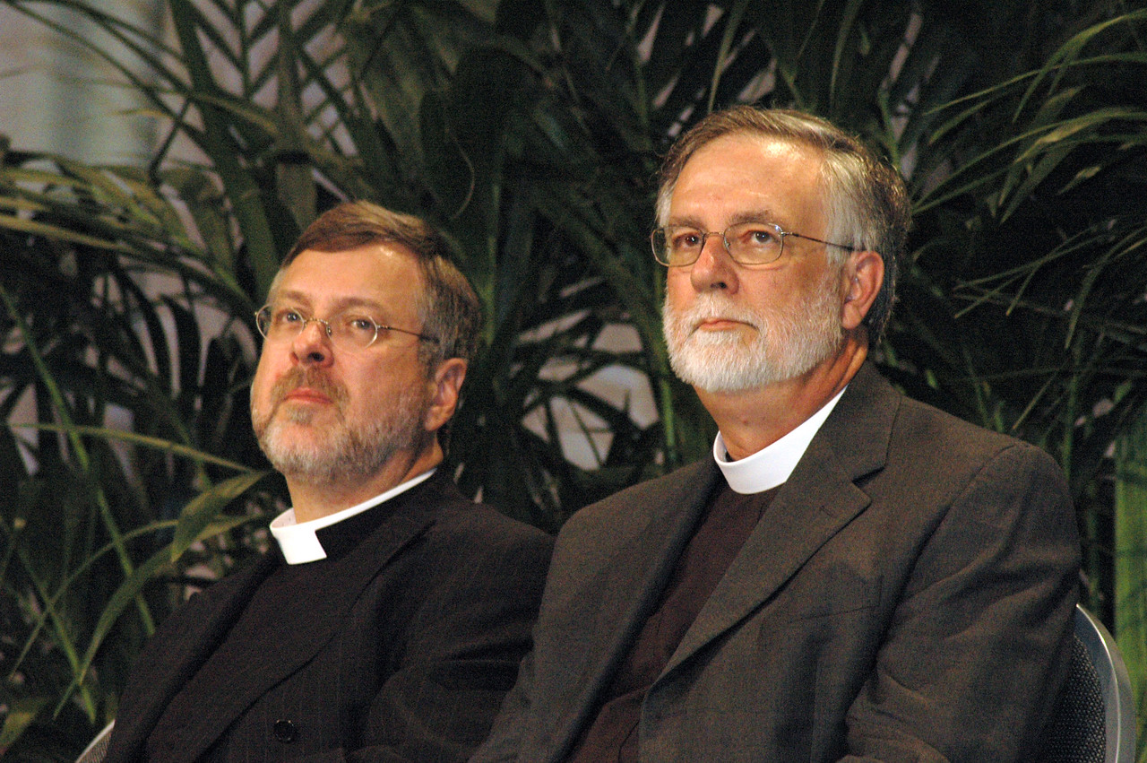 The Rev. Paul Schreck, ELCA Office of the Secretary and The Rev. Gary Harke, executive director, Pennsylvania Council of Churches who is here representing the Moravian Church in America.