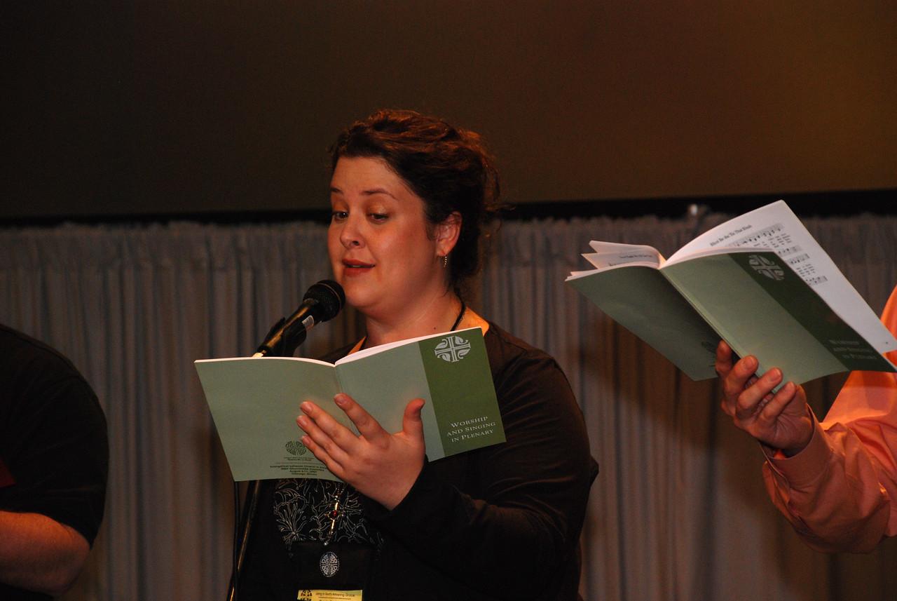 Ruth Ideen-Sall, Abington, Pa. Assembly Member at closing ceremony for Plenary 7 on Thursday.