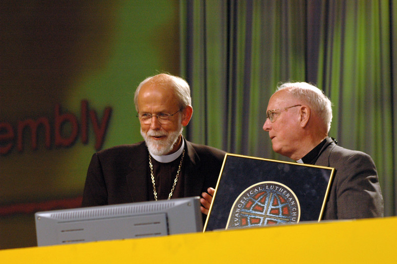 The Rev. H. George Anderson is recognized for his leadership as ELCA presiding bishop from 1995 to 2001.