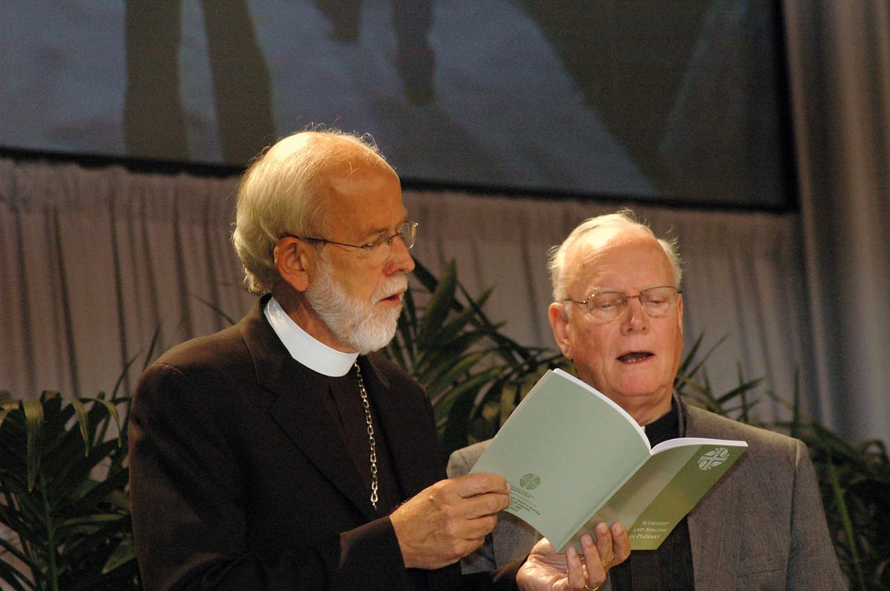 Presiding Bishop Mark Hanson and former Presiding Bishop H. George Anderson