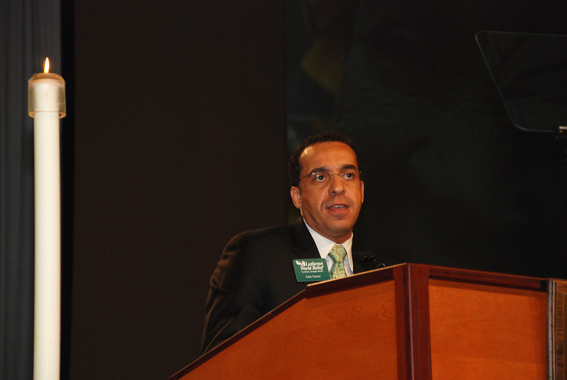 The Rev. John Nunes, president, Lutheran World Relief Hunger Program speaking in Plenary 6 on Thursday.