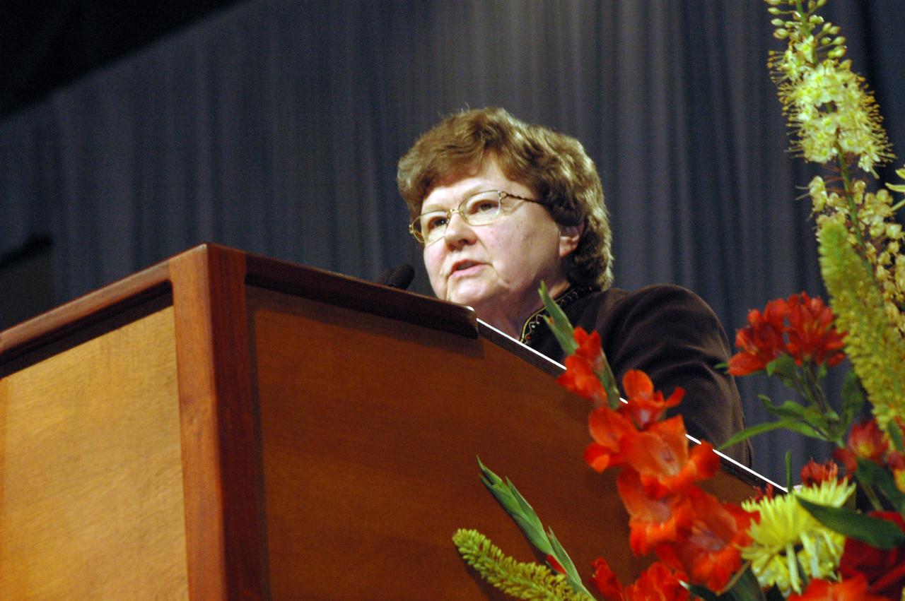 Dr. Norma Hirsch, member of the memorials committee