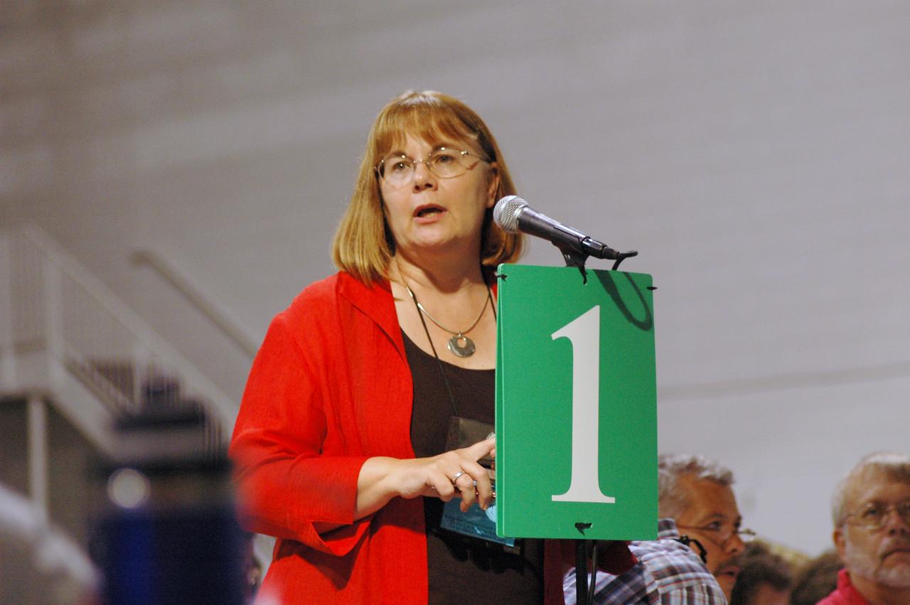 The Rev. Rebecca Larson, ELCA Church in Society responds to questions regarding the Criminal Justice Memorial.