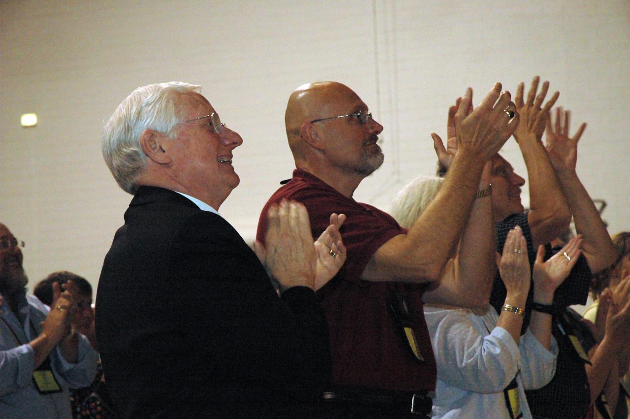 Bishop Paul Landahl and Bishop-elect Wayne Miller, Metro Chicago Synod.