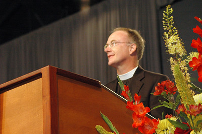 The Rev. Michael Burk celebrated the reception of Evangelical Lutheran Worship, a new worship resource now in its fifth printing after its release in October 2006.