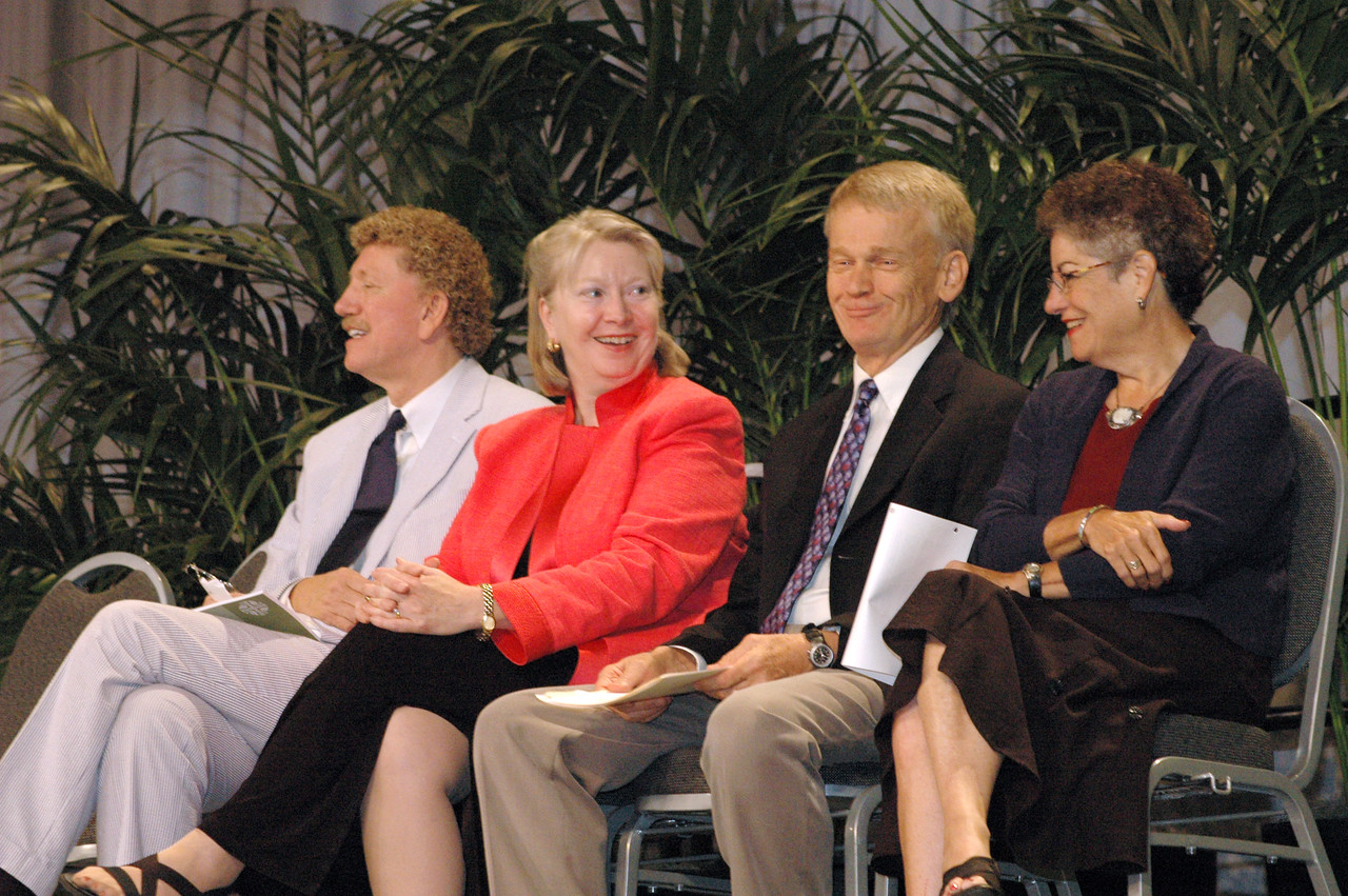 Book of Faith leaders Bishop Leonard Bolick, North Carolina Synod, Beth Lewis, CEO, Augsburg Fortress Publishers, The Rev. Stanley Olson, ELCA Vocation and Education and Dr. Diane Jacobson, associate in ministry, Luther Seminary, St. Paul, Minn.