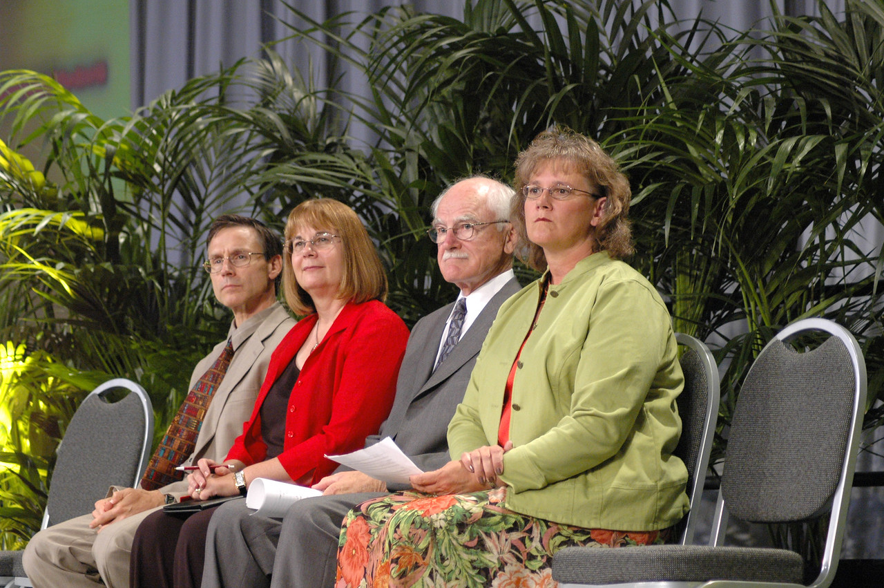 Education social statement: The Rev. Roger Willer, director for department for studies, ELCA Church in Society, The Rev. Rebecca Larson, ELCA Church in Society, Dr. Paul Dovre and Kristi Lines, co-chairs of ELCA task force on education