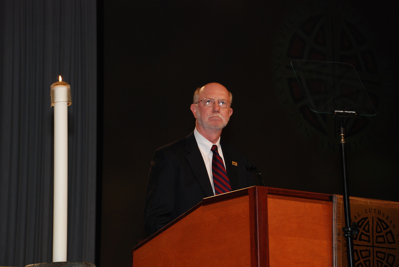 St. Olaf College, Dr. David Anderson addressing the Plenary session.