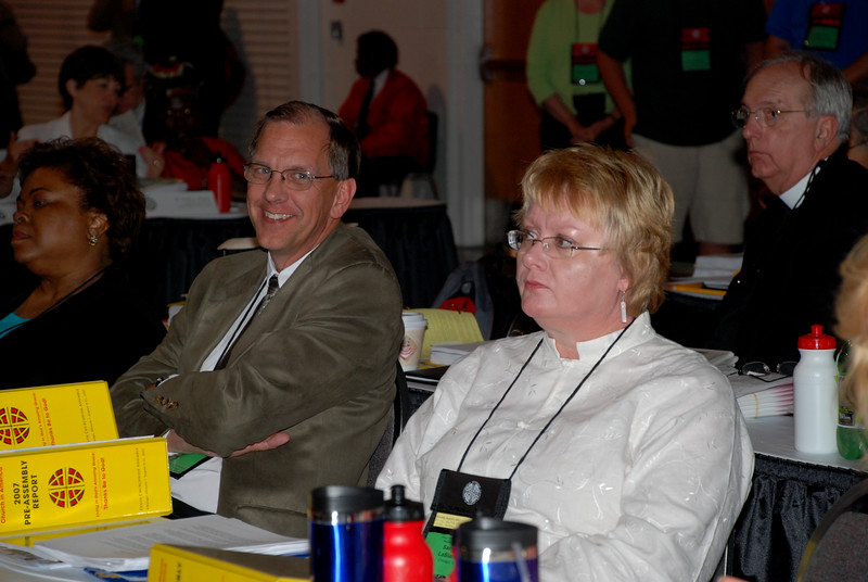 Mark Grorud and Sandra LaBlanc at Wednesday's Plenary session.