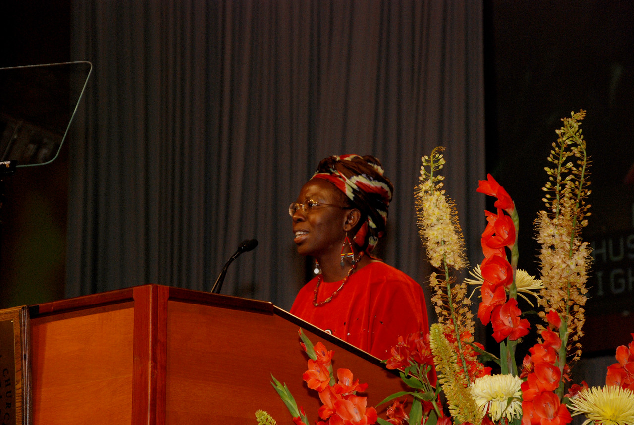 Dr. Musimbi Kanyoro, secretary general of World YWCA, Geneva, Switzerland, is a Kenyan advocate for women, children, and those with HIV/AIDS.