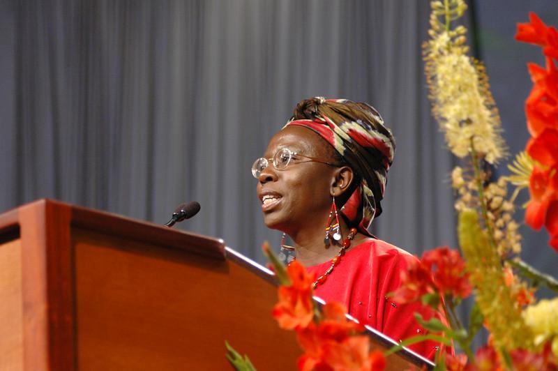 Keynote address: Dr. Musimbi Kanyoro, secretary general of World YWCA, Geneva, Switzerland, is a Kenyan advocate for women, children, and those with HIV/AIDS.