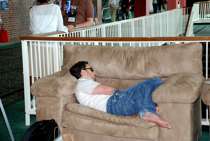 Hard day's work during Wednesday's Churchwide Assembly meeting at Navy Pier in Chicago, during Plenary 5 session.