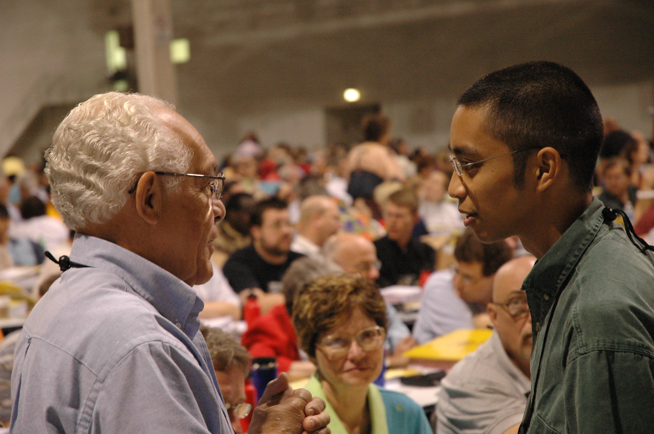 Voting members share what they are doing in their own congregations to become an anti-racist and multi-ethnic church.
