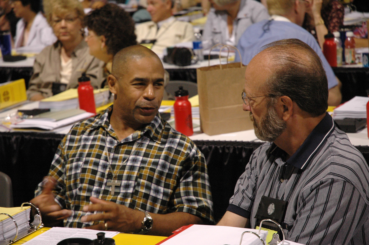 Reggie Smith (left) and the Rev. Karl Lunder, both of the Northeastern Minnesota Synod.