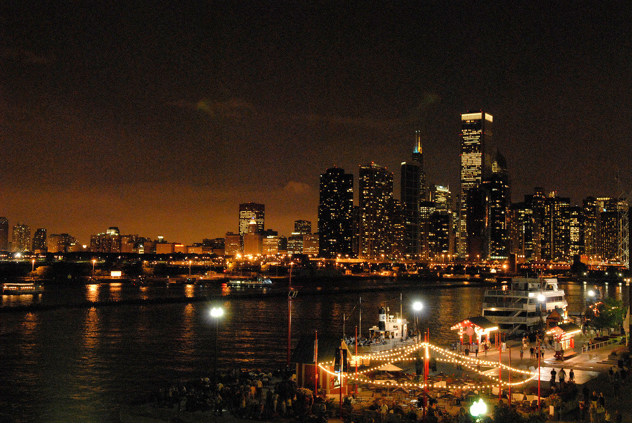 Chicago at night with a view from Navy Pier during the 2007 ELCA Churchwide Assembly