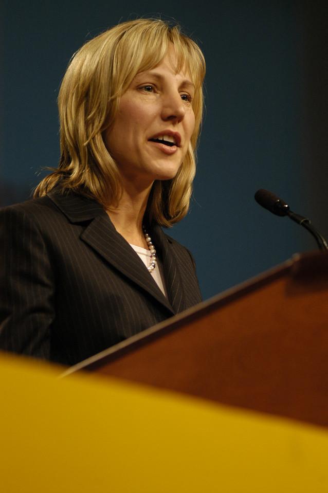 ELCA Treasurer Christina Jackson-Skelton delivers the report of the treasurer.